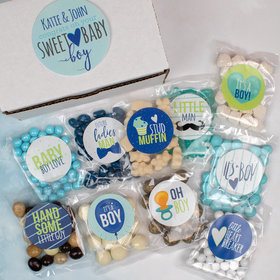 Personalized Baby Care Package Candy Gift Box - Sweet Baby Boy