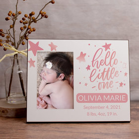 Personalized Picture Frame Hello Little One Pink