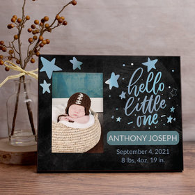 Personalized Picture Frame Hello Little One Blue