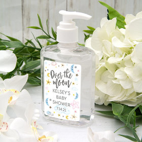 Personalized Baby Shower Hand Sanitizer 8 oz Bottle - Over the Moon