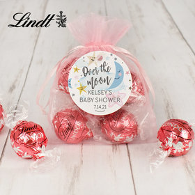 Personalized Baby Shower Lindt Truffle Organza Bag- Over the Moon