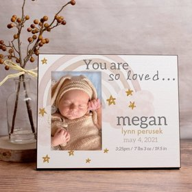 Personalized Picture Frame Monochromatic Rainbow