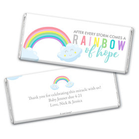Baby Shower Personalized Chocolate Bar After Every Storm comes a Rainbow