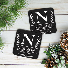 Personalized Cork Coaster, Classic Monogram