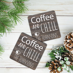 Personalized Neoprene Coaster, Coffee and Chill