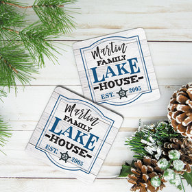 Personalized Neoprene Coaster, Lake House