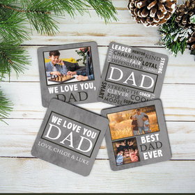 Personalized Cork Coaster - Dad (Set of 4)