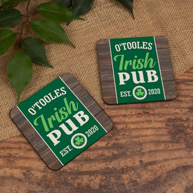 Personalized Cork Coaster, Irish Pub