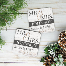 Personalized Cork Coaster, Mr & Mrs