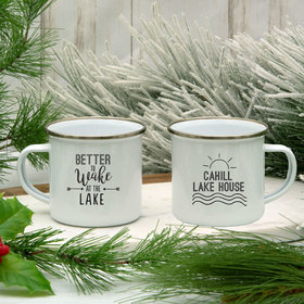 Personalized 11oz White Camper Mug - Better to Wake at the Lake