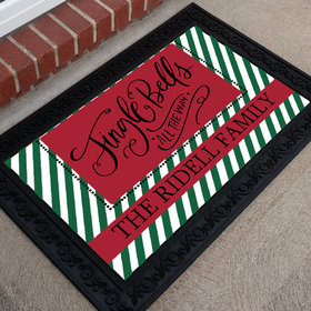 Personalized Christmas Doormat Jingle Bells