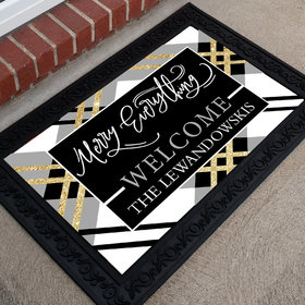 Personalized Christmas Doormat Merry Everything