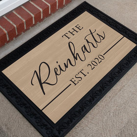 Personalized Doormat Family Name Established