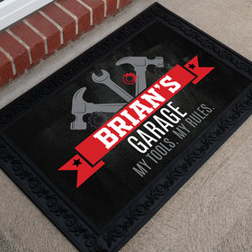 Personalized Doormat Garage Tools