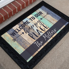 Personalized Doormat Happy Place