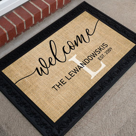 Personalized Doormat Welcome