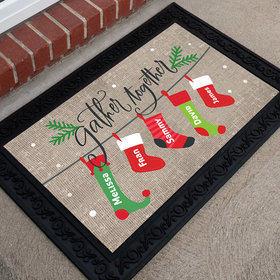 Personalized Doormat Gather Together Stocking Family of 5