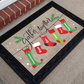 Personalized Doormat Gather Together Stocking Family of 6