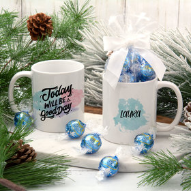 Personalized Today Will Be A Good Day 11oz Mug with Lindt Truffles