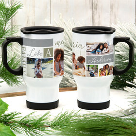 Personalized Family Memories Photo Stainless Steel Travel Mug (14oz)