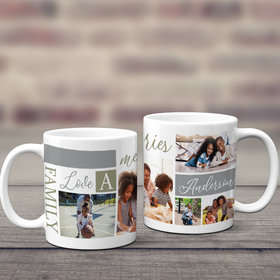 Personalized Family Memories Photo 11oz Mug Empty