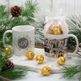 Personalized Family Name Photo Collage 11oz Mug with Lindt Truffles