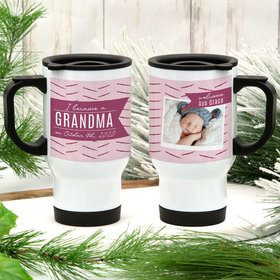 Personalized I Became a Grandma Stainless Steel Travel Mug (14oz)