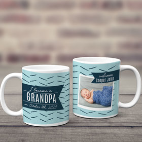 Personalized I Became a Grandpa 11oz Mug Empty