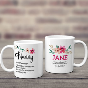 Personalized Nanny 11oz Mug Empty