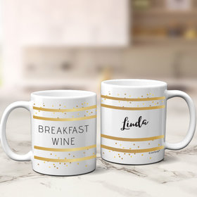 Personalized Breakfast Wine 11oz Mug Empty