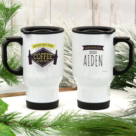 Personalized Travel Mug Grandparent Gifts (14oz) - Just Coffee