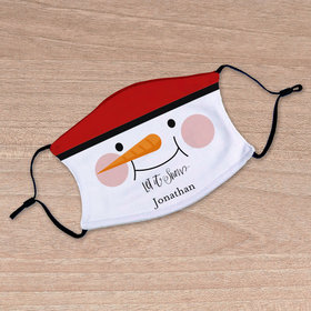 Personalized Let it Snow Face Mask