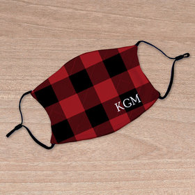 Personalized Red Plaid Face Mask