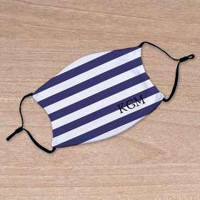 Personalized Nautical Stripes Face Mask