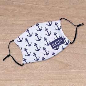 Personalized Nautical Anchors Face Mask