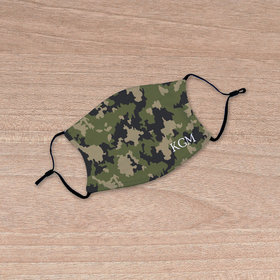Personalized Green Camo Face Mask