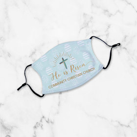 Personalized He is Risen Youth Face Mask