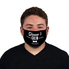 Personalized Groom's Crew Face Mask