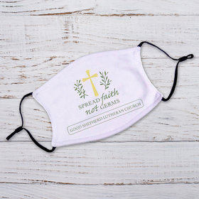 Personalized Spread Faith not Germs Adult Face Mask