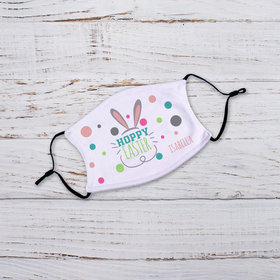 Personalized Hoppy Easter Youth Face Mask