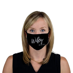 Personalized Wifey Est. Face Mask