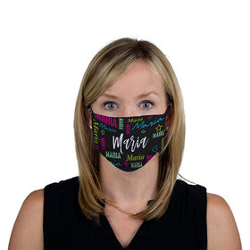 Personalized Repeating Name Face Mask