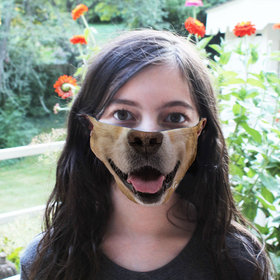 Personalized Dog Face Face Mask