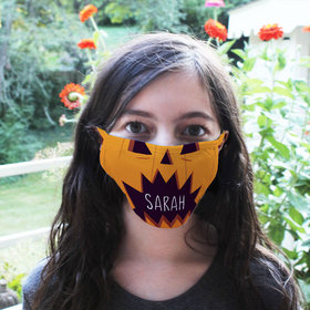 Personalized Halloween Faces Pumpkin Face Mask
