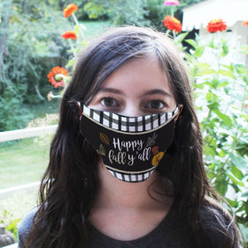 Personalized Happy Fall Yall Face Mask