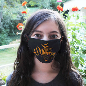 Personalized Happy Halloween Face Mask
