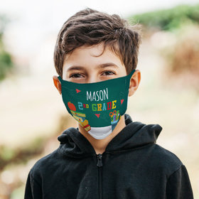 Personalized Kid in Class 2nd Grade Face Mask