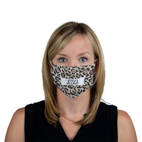 Personalized Leopard Name Face Mask