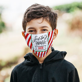 Personalized Santa's Favorite Face Mask