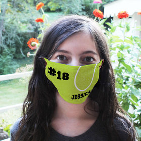 Personalized Tennis Ball Face Mask